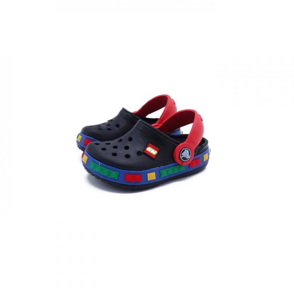 """Детские Кроксы Crocs Kids' Crocband LEGO """"Dark Blue/Red"""" (Темно-синий, Красный)"""