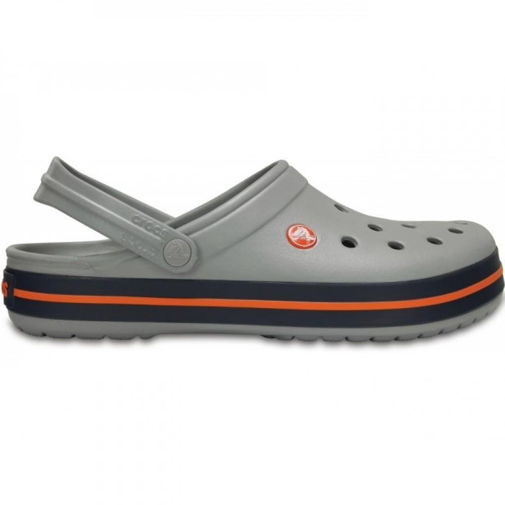 "Кроксы Crocs Crocband ""Light Grey/Navy"" (Серый)"