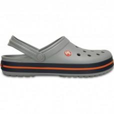 """Кроксы Crocs Crocband """"Light Grey/Navy"""""""