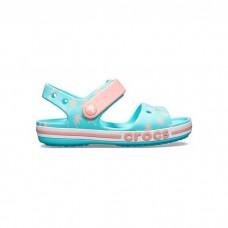 "Детские Кроксы Сандалии Crocs Crocband Sandal Kids ""Pool"""