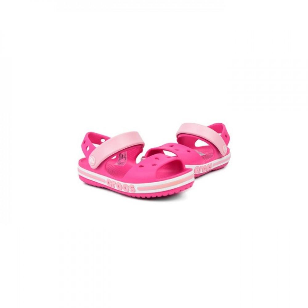 """Детские Кроксы Сандалии Crocs Crocband Sandal Kids """"Pink"""" (Розовый)"""