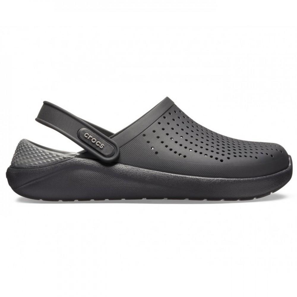 "Сабо Кроксы Crocs LiteRide™ Clog ""Black/Slate Grey"" (Черный, Серый)"