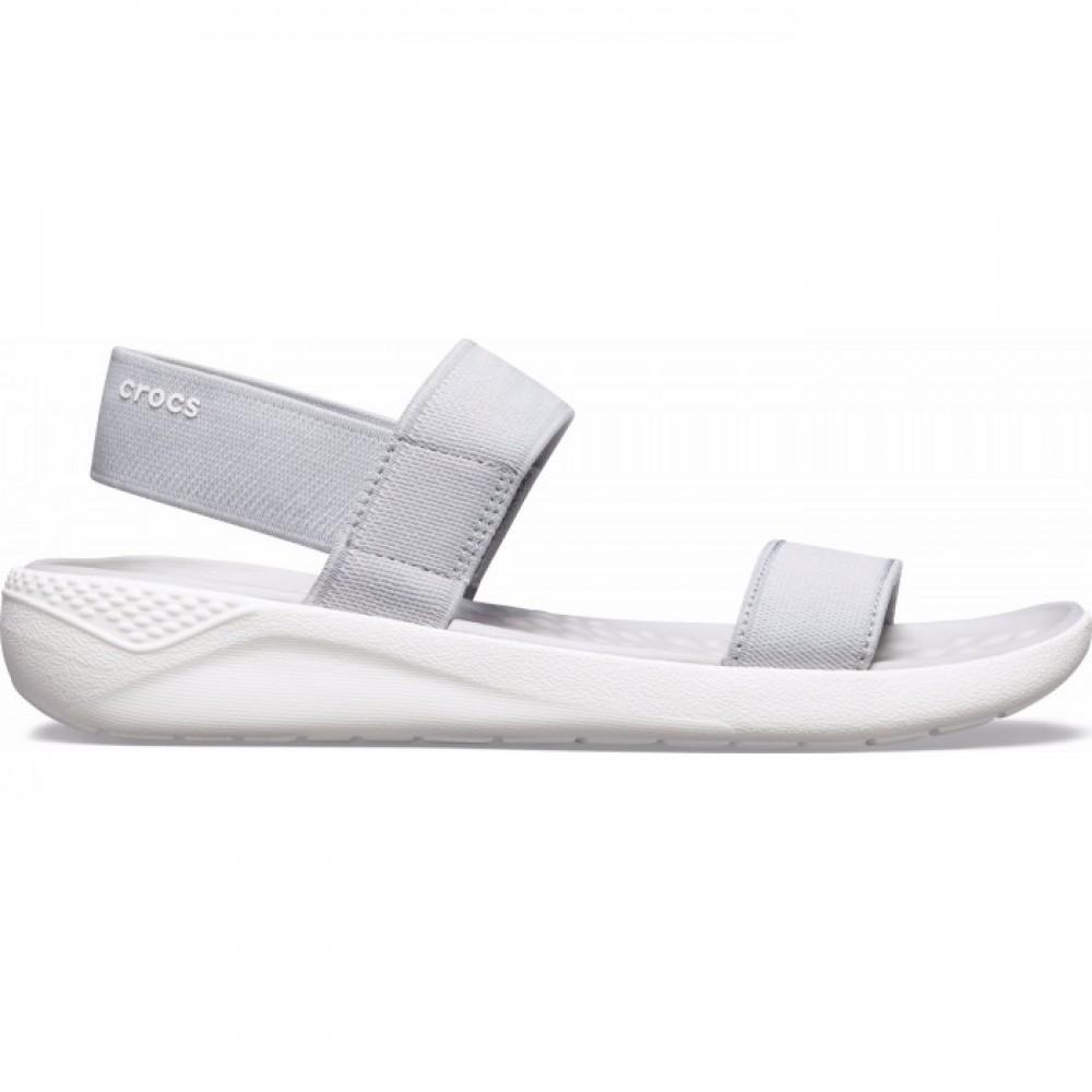 "Сандалии женские Crocs Women's LiteRide™ Sandal ""Smoke"" (Серый)"