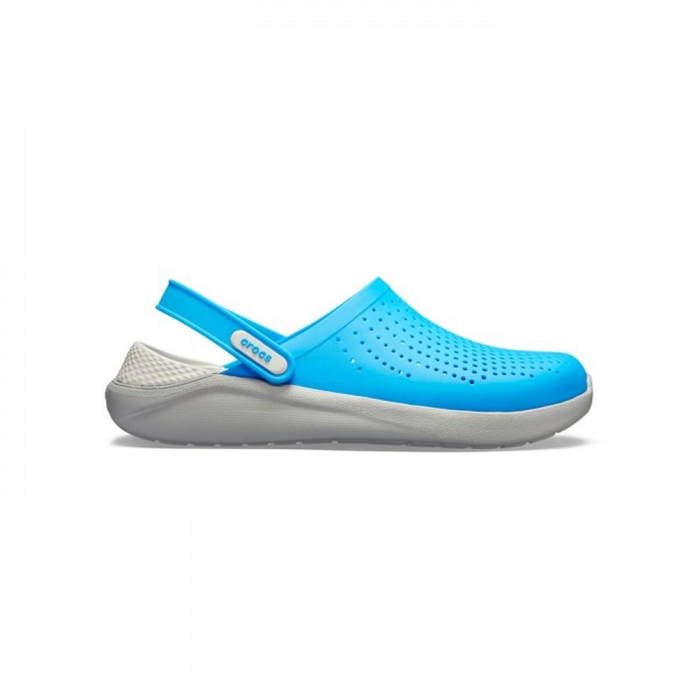 """Сабо Кроксы Crocs LiteRide™ Clog """"Ocean Blue/Light Grey"""" (Ярко-синий)"""