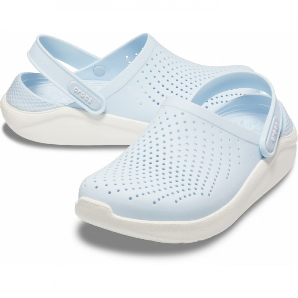 "Сабо Кроксы Crocs LiteRide™ Clog ""Mineral Blue/White"" (Голубой)"