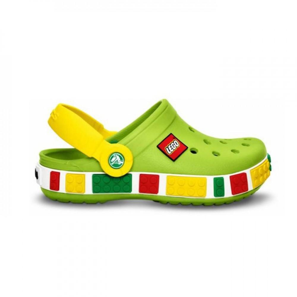 """Детские Кроксы Crocs Kids' Crocband LEGO """"Green"""" (Зеленый)"""