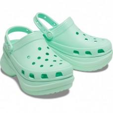 """Кроксы на платформе Crocs Classic Bae Clog """"Neo Mint Pool"""""""