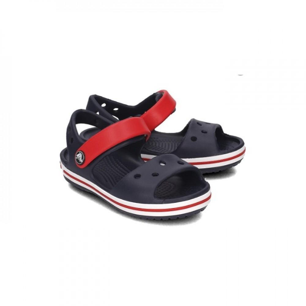 """Детские Кроксы Сандалии Crocs Crocband Sandal Kids """"Navy"""" (Темно-синий)"""