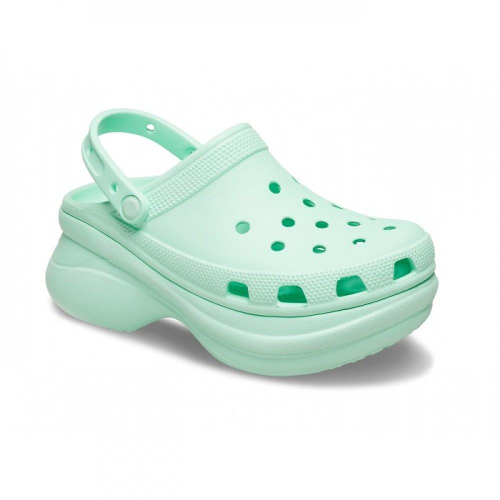 """Кроксы на платформе Crocs Classic Bae Clog """"Neo Mint Pool"""" (Мятный)"""