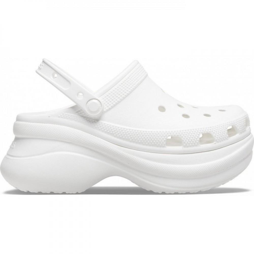 "Кроксы на платформе Crocs Classic Bae Clog ""White"" (Белый)"