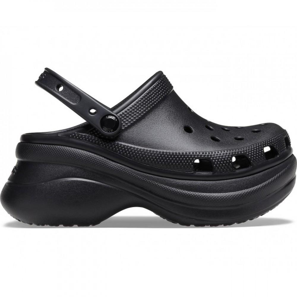 """Кроксы на платформе Crocs Classic Bae Clog """"Black"""" (Черный)"""