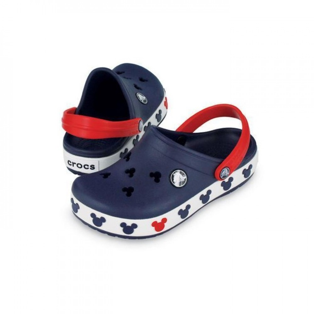 "Детские Кроксы Crocs Crocband Mickey ІI Kids ""Navy"" (Темно-синий)"