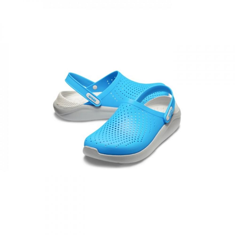 """Сабо Кроксы Crocs LiteRide™ Clog """"Ocean/Light Greyм"""" (Голубой)"""