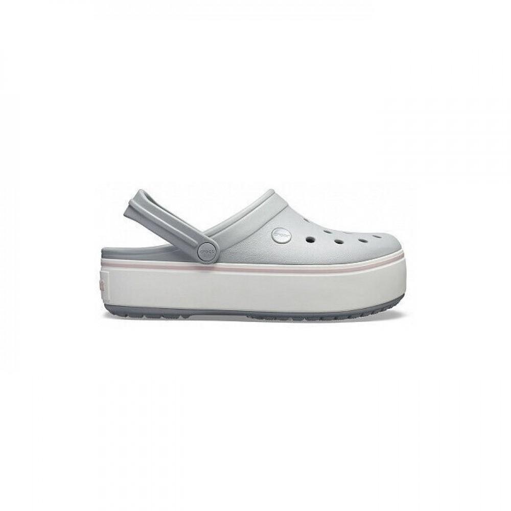 "Сабо Кроксы Crocs Platform ""Grey/White"" (Серый)"