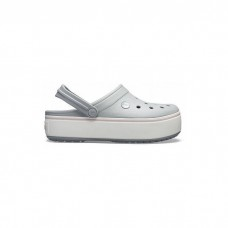 "Сабо Кроксы Crocs Platform ""Grey/White"""