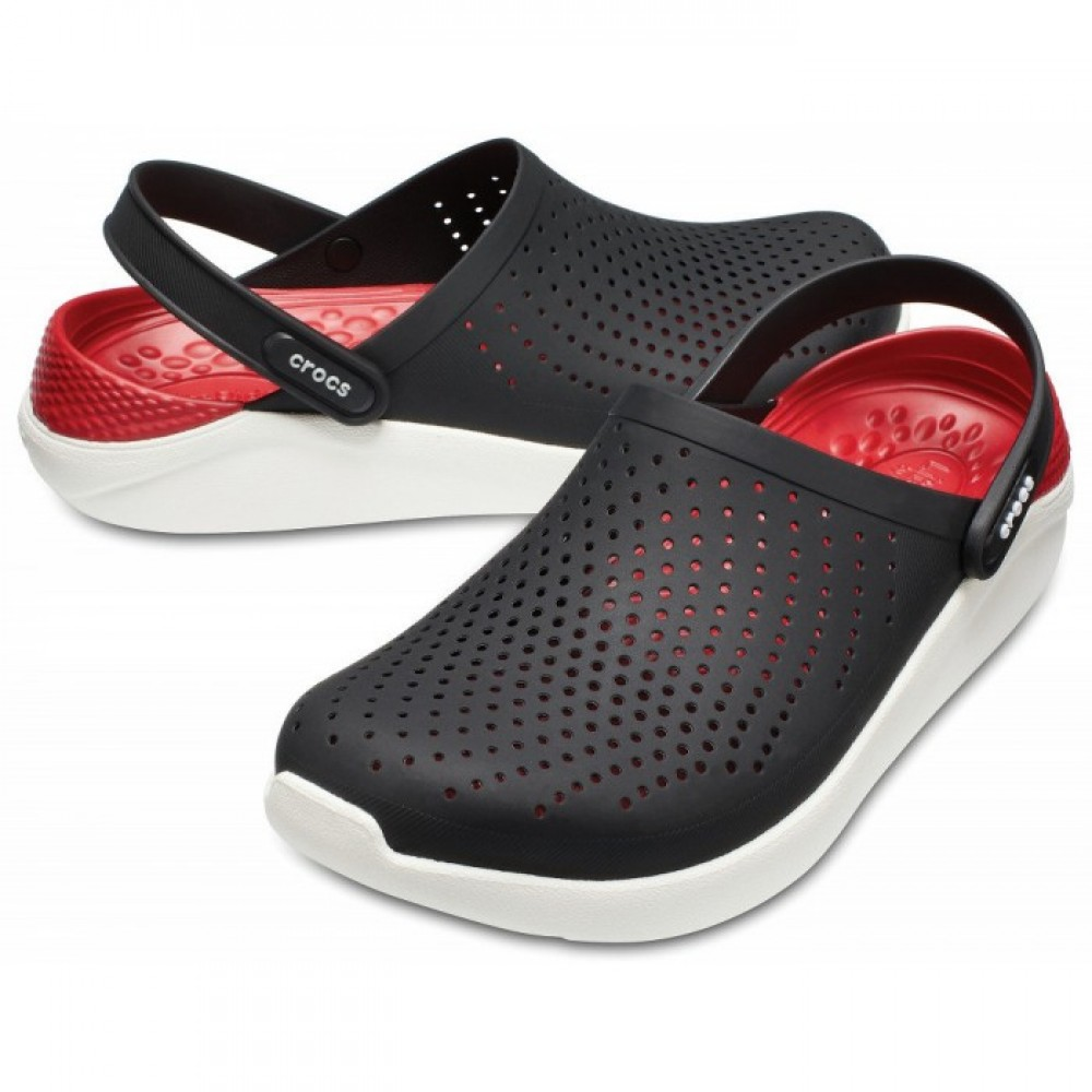 "Сабо Кроксы Crocs LiteRide™ Clog ""Black/White"" (Черный)"