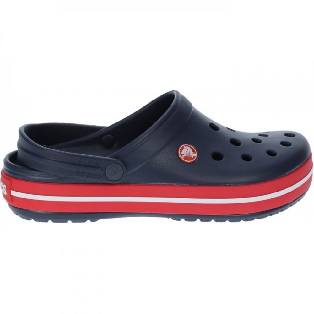 "Кроксы Crocs Crocband ""Navi/Red"" (Темно-синий)"