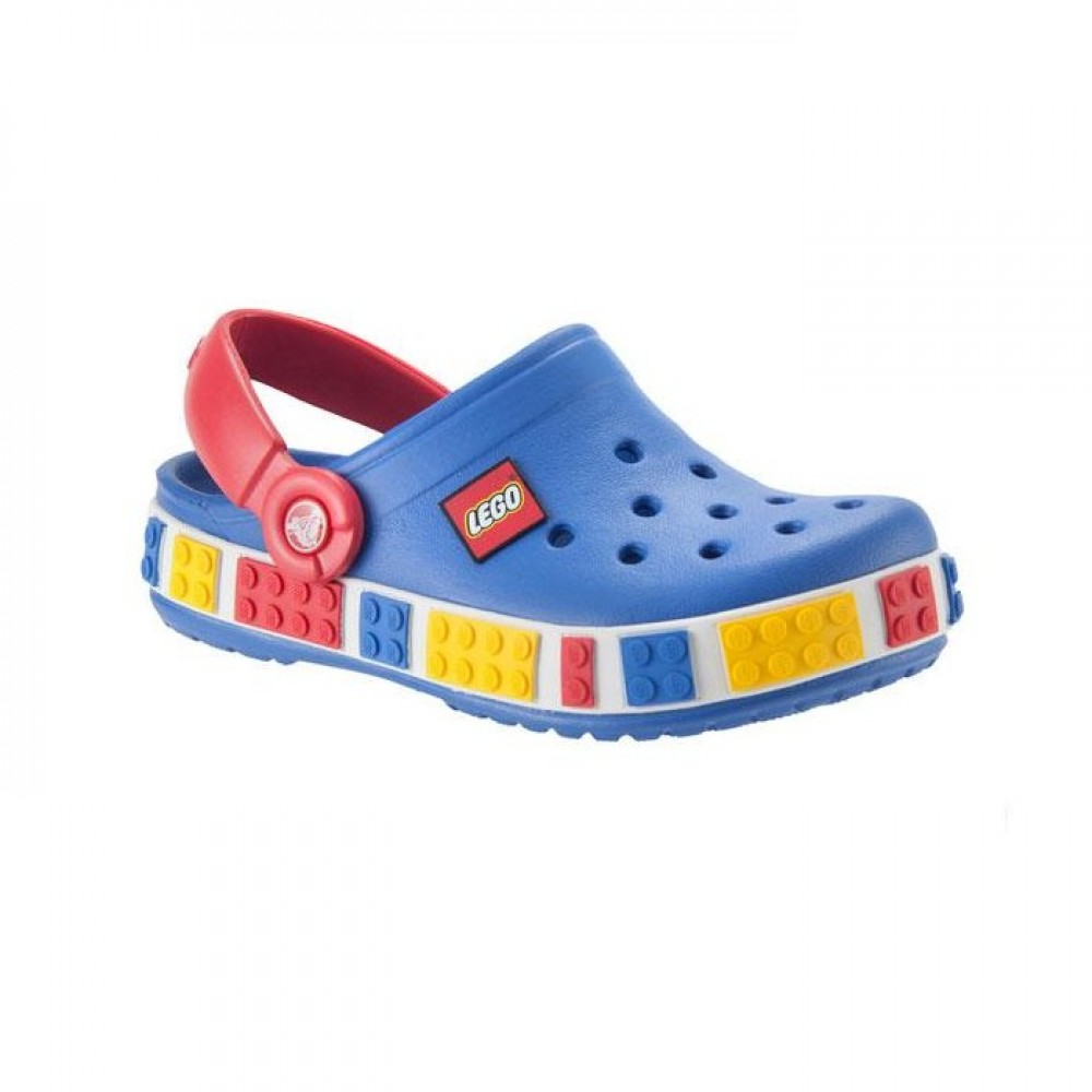 """Детские Кроксы Crocs Kids' Crocband LEGO """"Sea/Blue/Red"""" (Голубой)"""