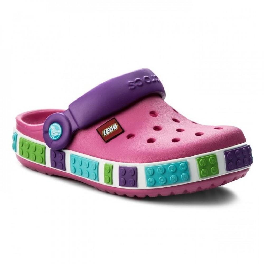 """Детские Кроксы Crocs Crocband LEGO """"Fuchsia/Purple"""" (Розовый, Фиолетовый)"""