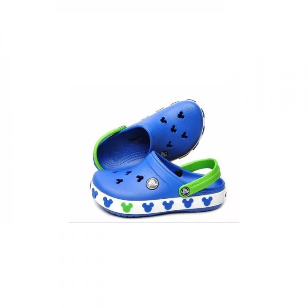 "Детские Кроксы Crocs Crocband Mickey ІI Kids ""Blue"" (Голубой)"