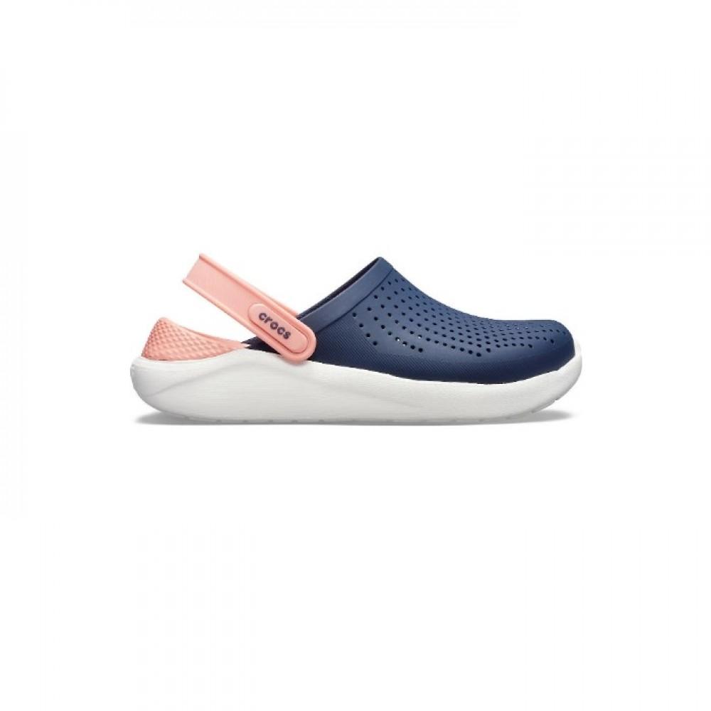 """Сабо Кроксы Crocs LiteRide™ Clog """"Navy/Melon"""" (Синий, Розовый)"""