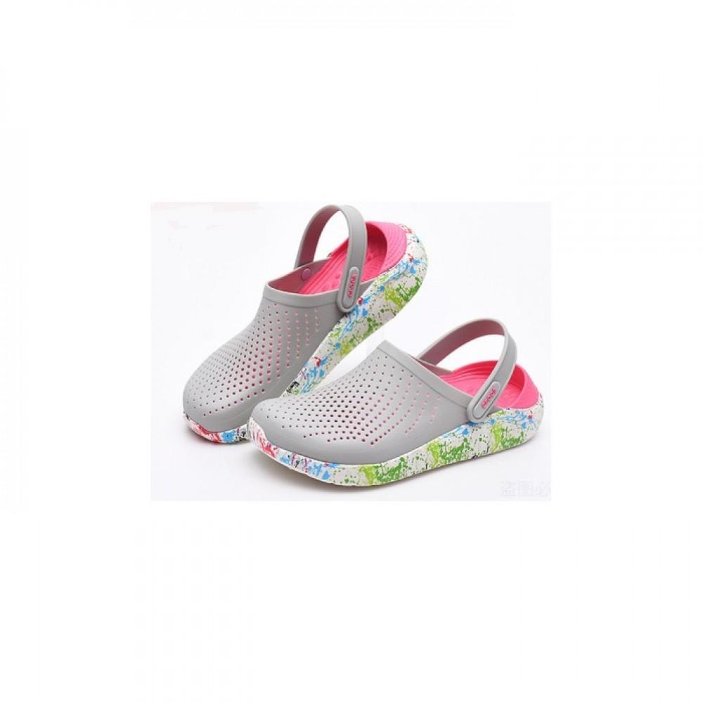 """Сабо Кроксы Crocs LiteRide™ Clog """"Pearl/White"""" (Серый)"""
