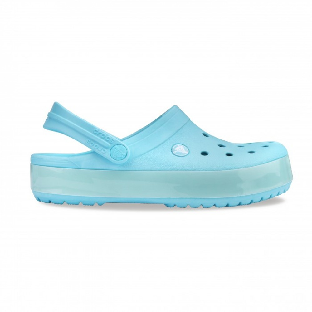 "Кроксы Crocs Crocband LUMINOUS ""Ice Blue/White"" (Светло-голубой)"
