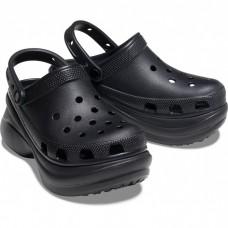 """Кроксы на платформе Crocs Classic Bae Clog """"Black"""""""