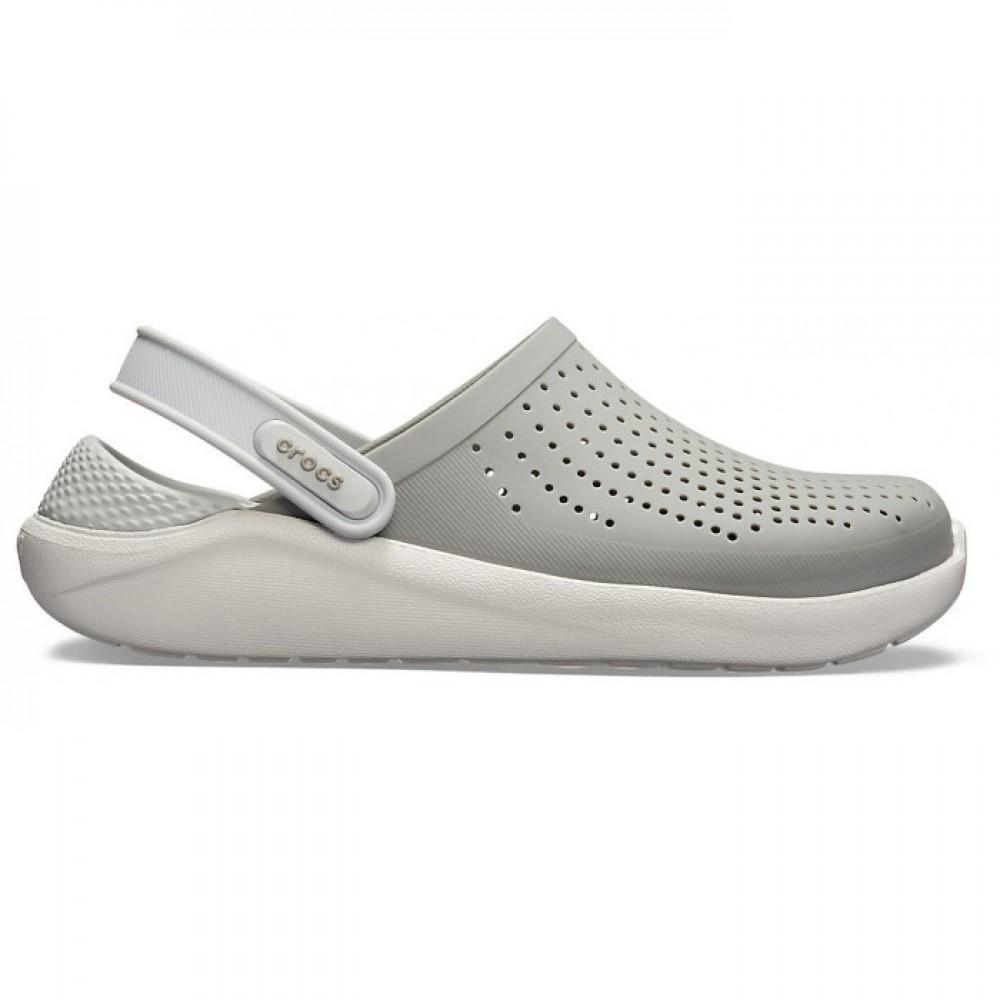 """Сабо Кроксы Crocs LiteRide™ Clog """"Light Grey"""" (Серый)"""