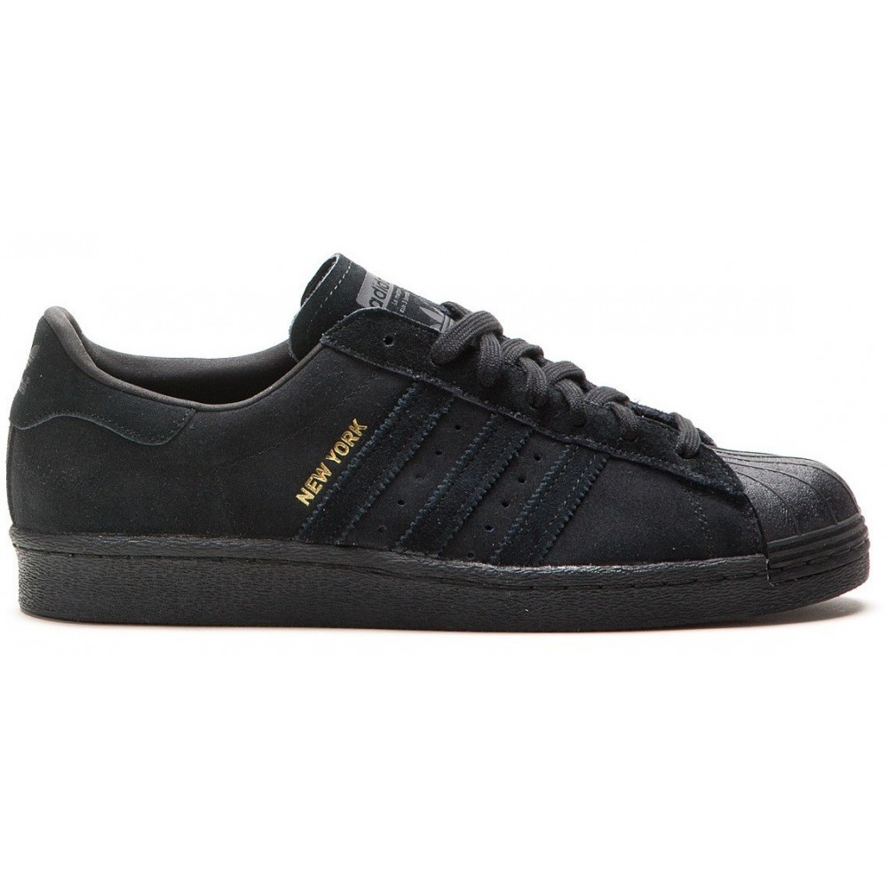 Кроссовки Adidas Superstar Black New York ()