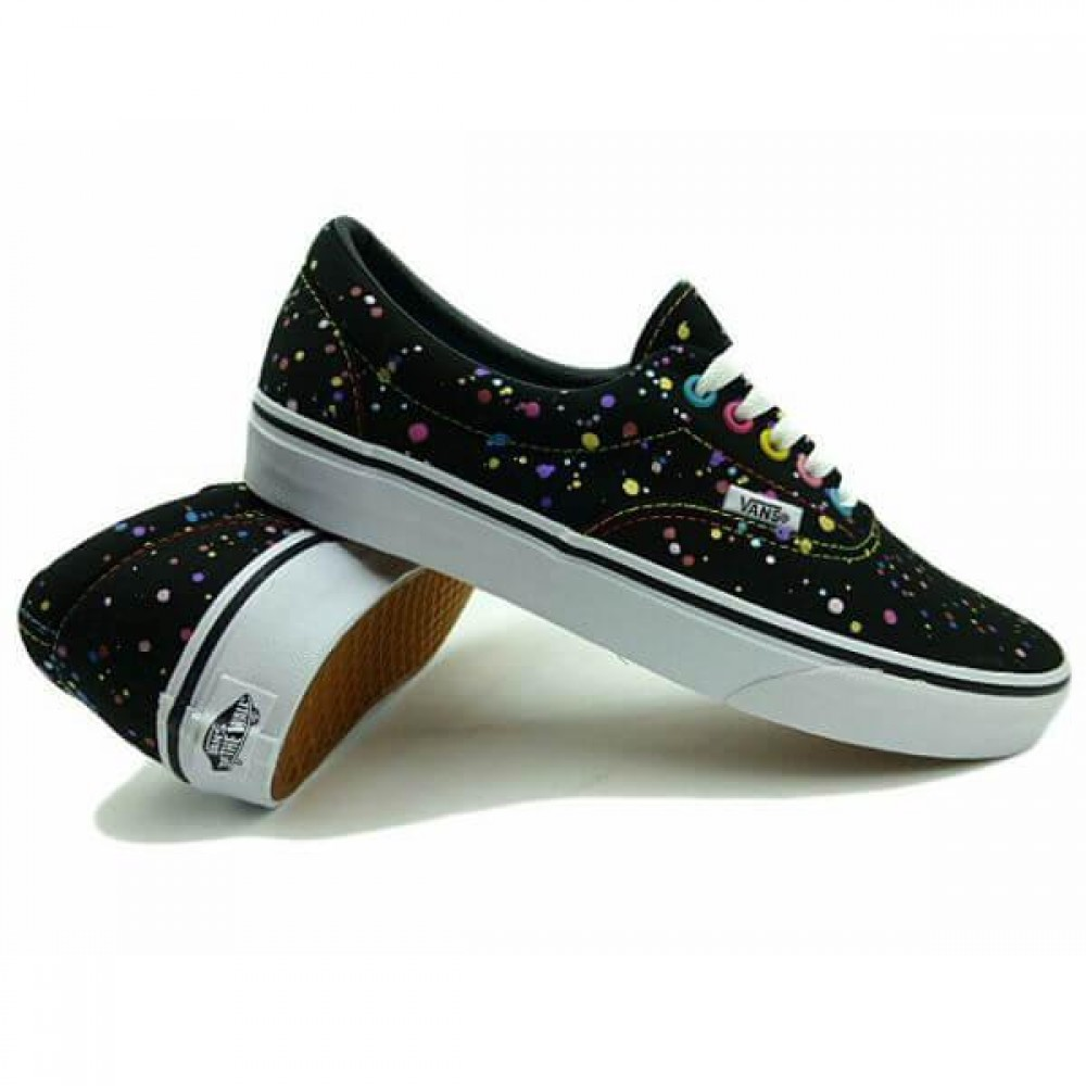 Кеды Vans Era Black Splatter Print (Черный)
