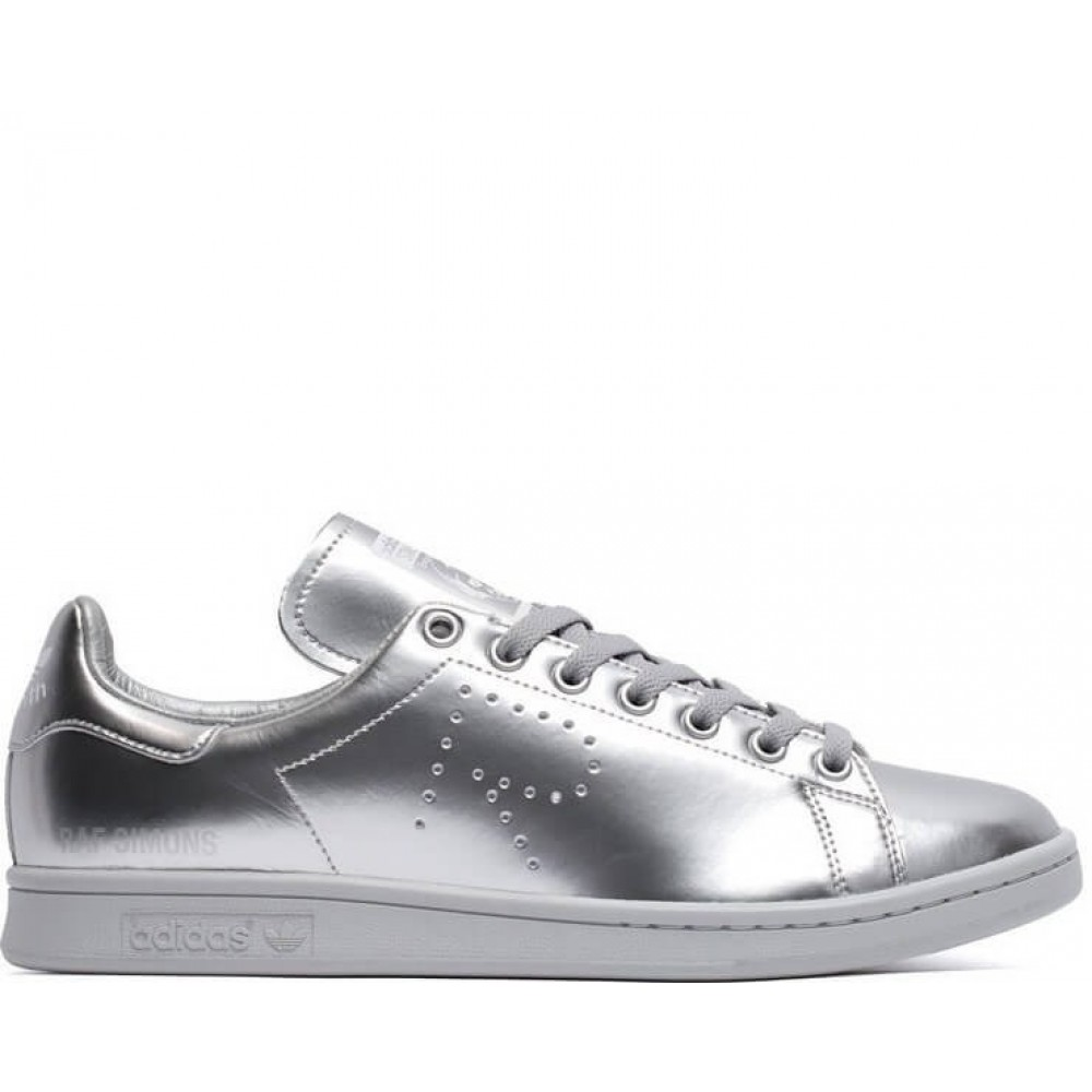 "Кроссовки Raf Simons x Adidas Stan Smith ""Metallic Silver"" (Серебристый)"