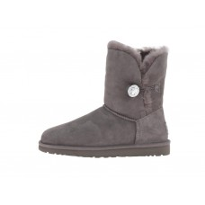 "UGG BAILEY BUTTON II BOOT  BLING  ""GREY"""