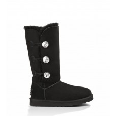 """UGG BAILEY BUTTON TRIPLET II BOOT BLING """"BLACK"""""""