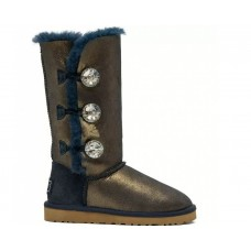 """UGG BAILEY BUTTON TRIPLET II BOOT BLING """"NAVY/GOLD"""""""