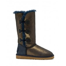 """UGG BAILEY BUTTON TRIPLET II BOOT """"NAVY/GOLD"""""""