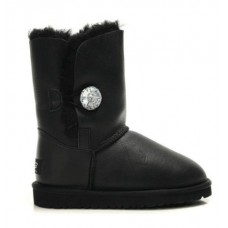 """UGG BAILEY BUTTON BOOT LEATHER BLING """"BLACK"""""""