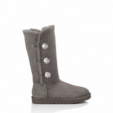 """UGG BAILEY BUTTON TRIPLET II BOOT BLING """"GREY"""""""