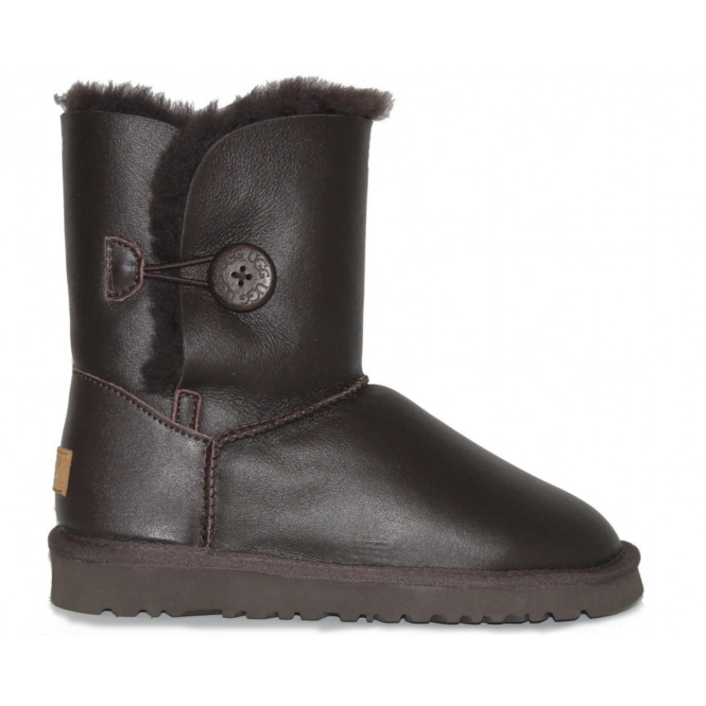 """UGG BAILEY BUTTON II BOOT LEATHER """"BROWN"""" (Коричневый)"""