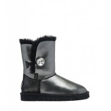 """UGG BAILEY BUTTON II BOOT LEATHER I DO """"BLACK"""""""