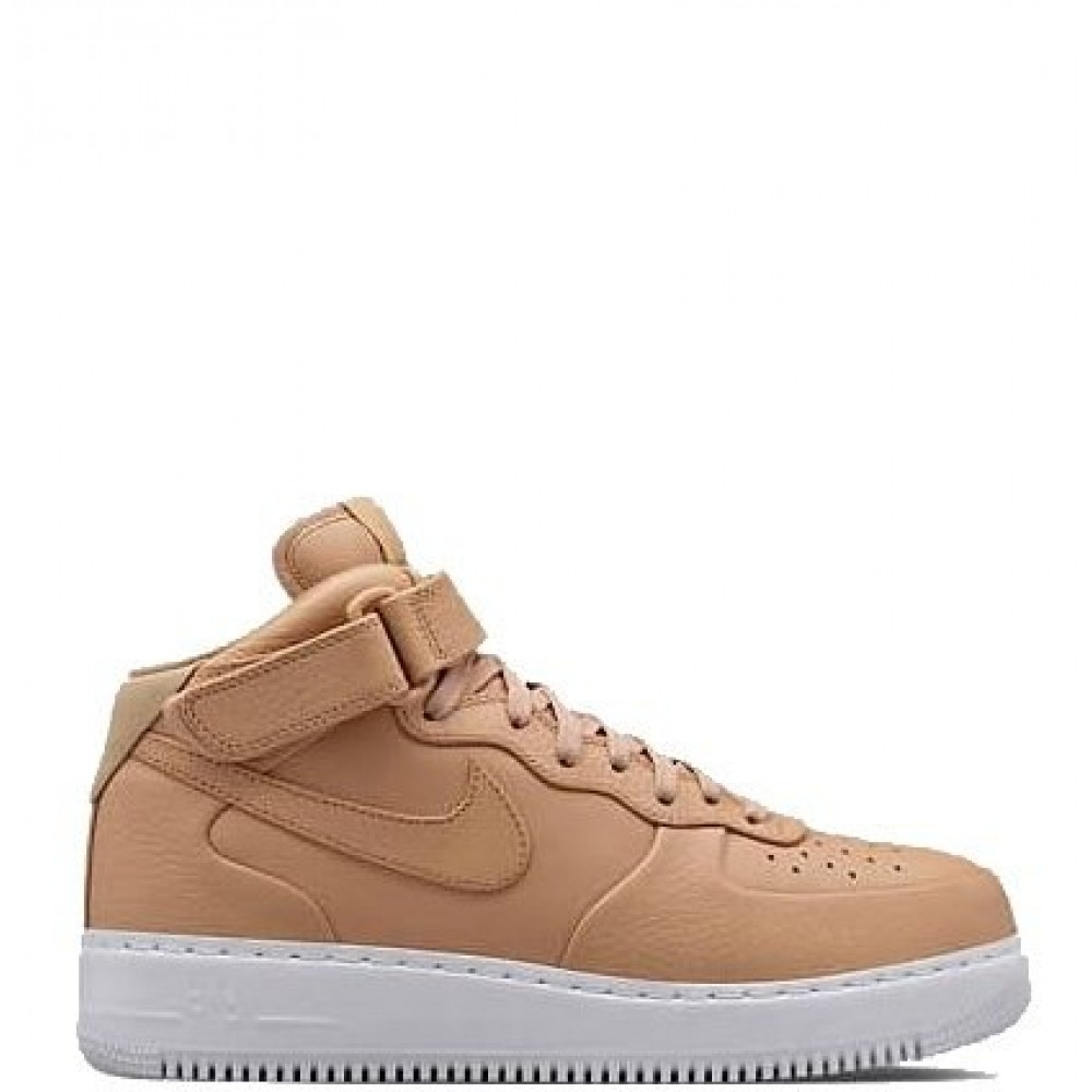 "Кроссовки NikeLab Air Force 1 Mid ""Vachetta Tan/White"" (Бежевый)"