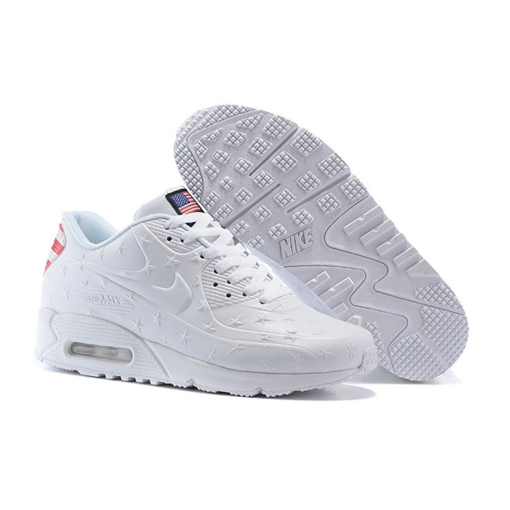 Кроссовки Nike Air Max 90 USA Independence Day White (Белый)