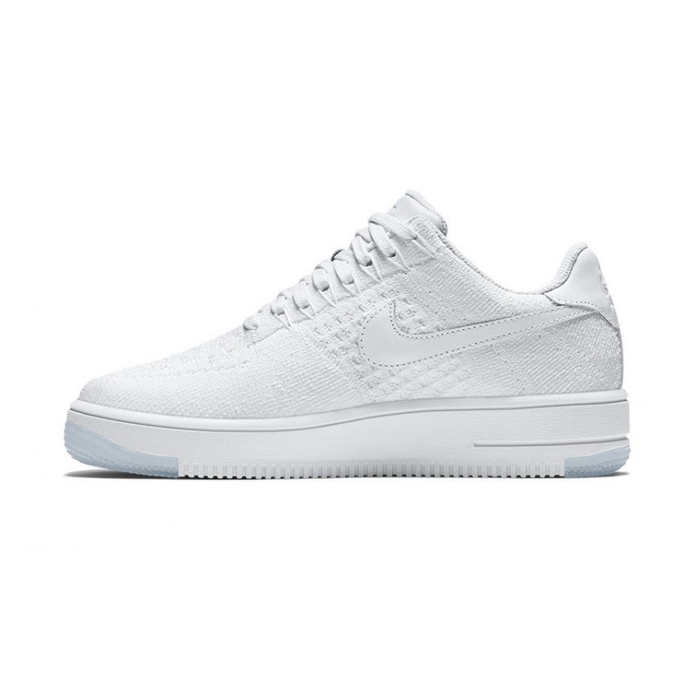 """Кроссовки Nike Air Force Flyknit Low """"White"""" (Белый)"""