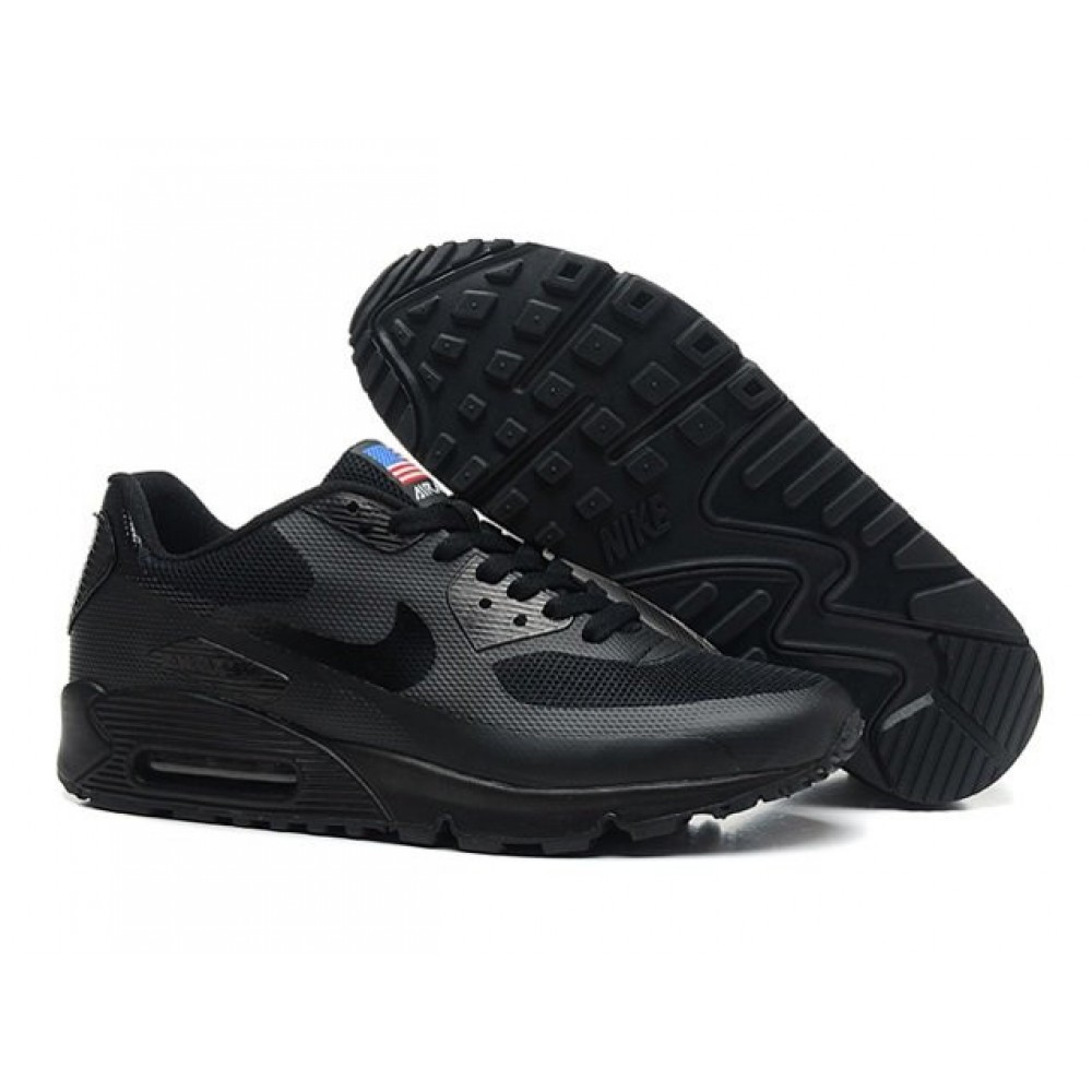 Кроссовки Nike Air Max 90 Hyperfuse USA Black (Черный)