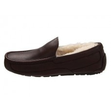 "UGG ASCOT SLIPPER LEATHER ""BROWN"""