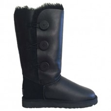 """UGG BAILEY BUTTON TRIPLET II LEATHER BOOT """"BLACK"""""""