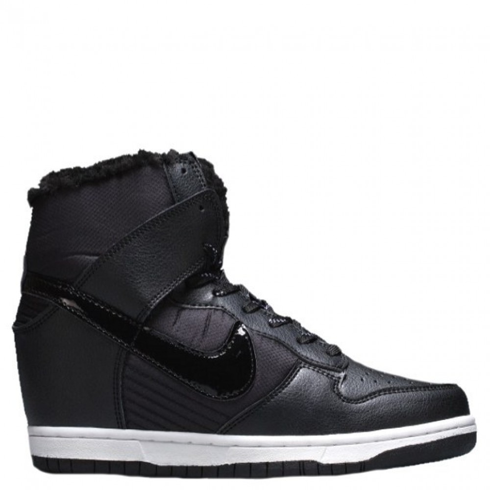 "Сникерсы Nike WMNS Dunk Hight ""Black"" С МЕХОМ (Черный)"