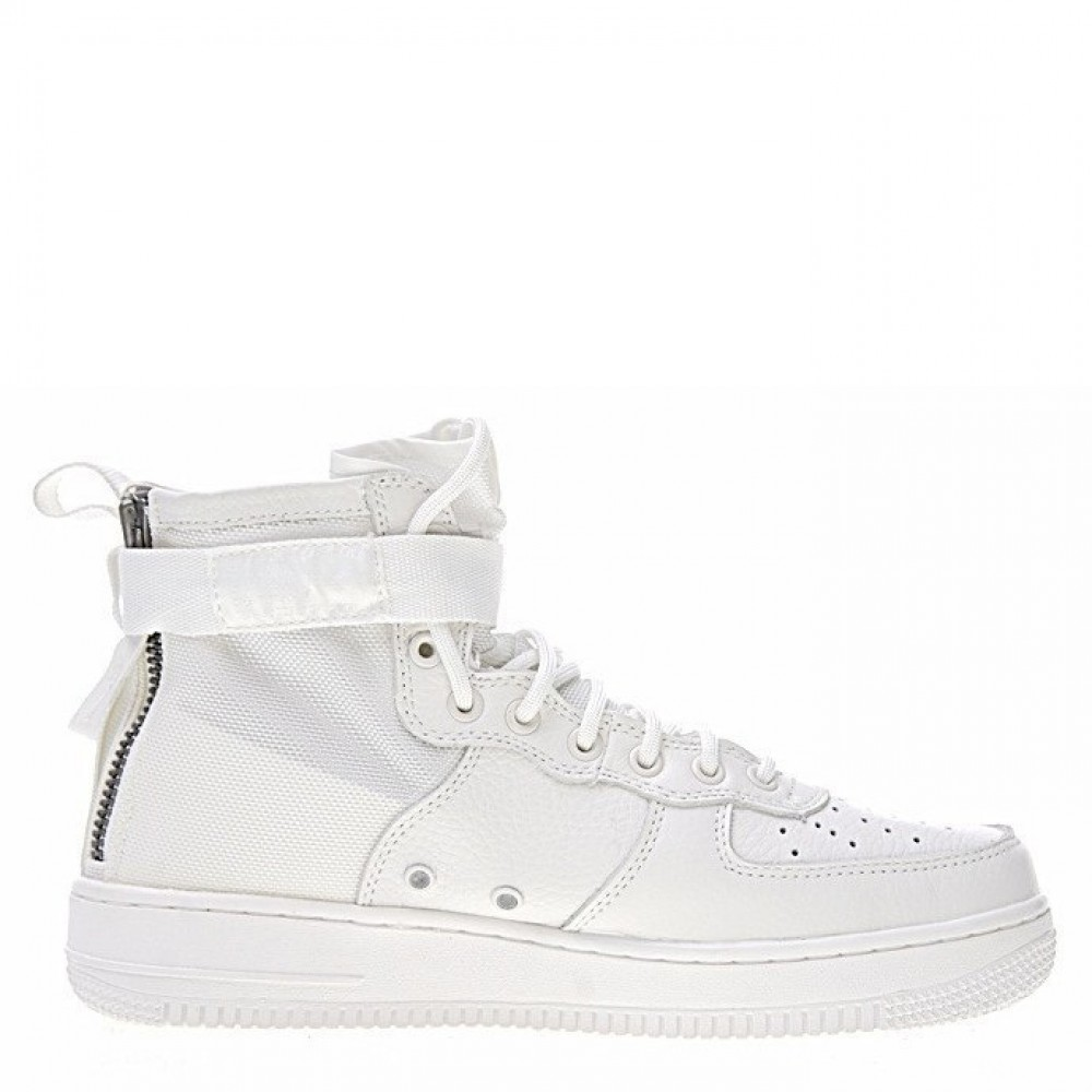 "Кроссовки Nike SF Air Force 1 Utility Mid ""All White"" (Белый)"