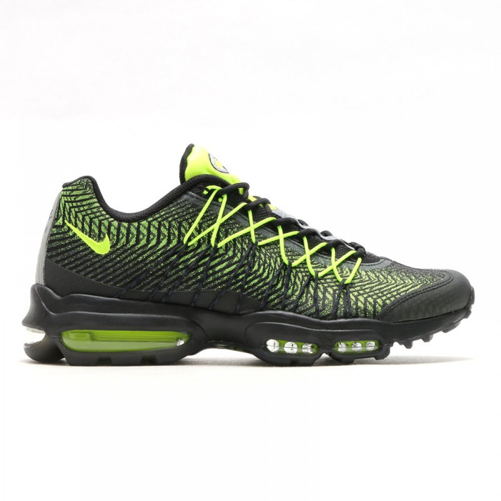 Кроссовки Nike Air Max 95 Ultra JCRD Black Volt Dark Grey Metallik Silver (Черный)