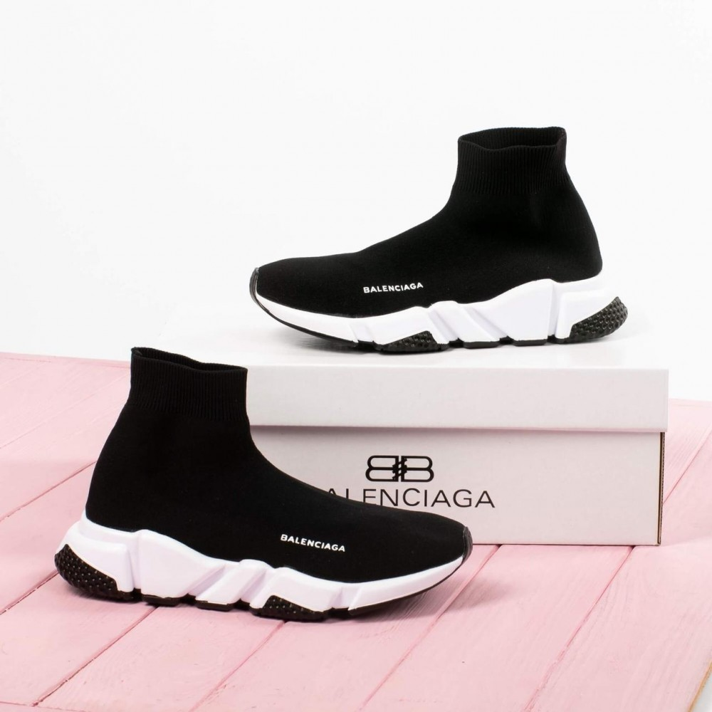 Женские кроссовки Balenciaga Speed Trainer Black White ()